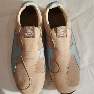 Timberland slip on tennis shoes, size 7